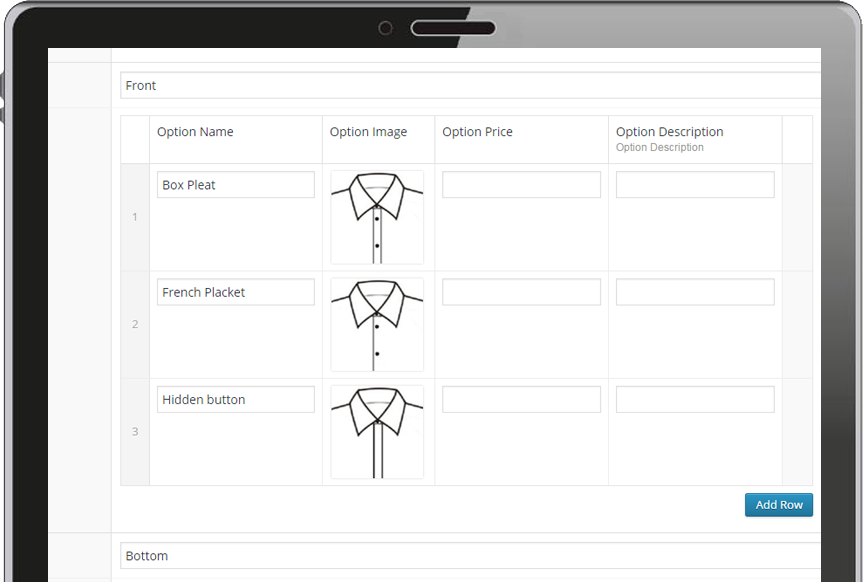 Edit store options